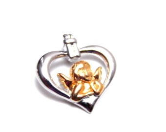 Cherubim Cherub Angel Faith Sterling Silver Charm / Pendant
