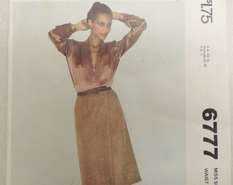 McCall's 6777 Sewing Pattern 90 Minute Fashion Skirt 1970s