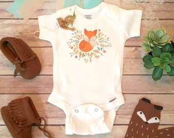 Cute Onesies®, Baby Girl Clothes, Fox Baby Clothes, Boho Baby Clothes, Baby Shower Gift, Fox Baby Onesie, Boho Baby Bodysuit, Fox Onesies