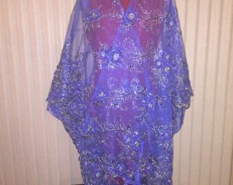 Royal Blue and Gold Kimonos