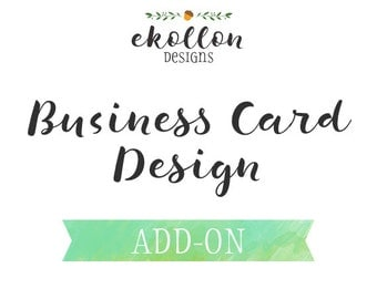 Made to Match Business Card Design - Add on