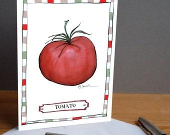 tomato -  fun greeting card