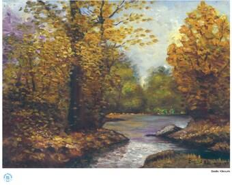 "Autumn Leaves (20"" x 16"")"