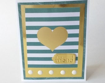 Nautical Stripe Friend Greeting Card