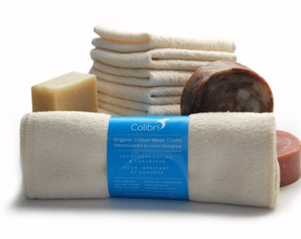 Ready to ship - 5 Organic Cotton Washcloths
