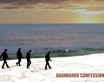 Dashboard Confessional Poster - On The Beach - Rare New 24x36