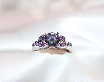 The Jeweler's Daughter Fire Topaz and Amethyst Ring