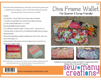 Diva Frame Wallet Pattern ONLY ONE remains!