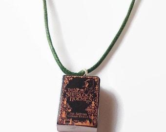 Sherlock Holmes mini book necklace