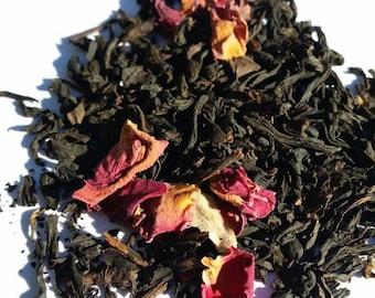 China Rose Black Tea. Loose leaf tea.