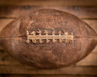 Photo Print - Vintage Football, Old, Worn and Well Used, Fine Art, 8x10 or 16x20