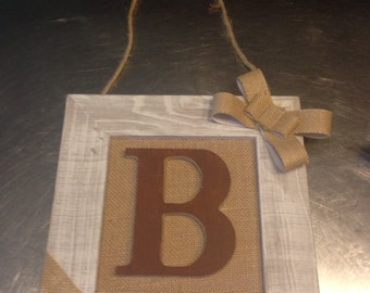 Initial personalized rustic wall hanging