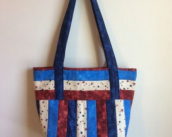 quilted patriotic bag