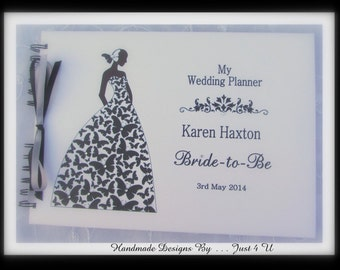 Personalised A4 Wedding planner * SCRAPBOOK * Bride to be journal * NOTE BOOK