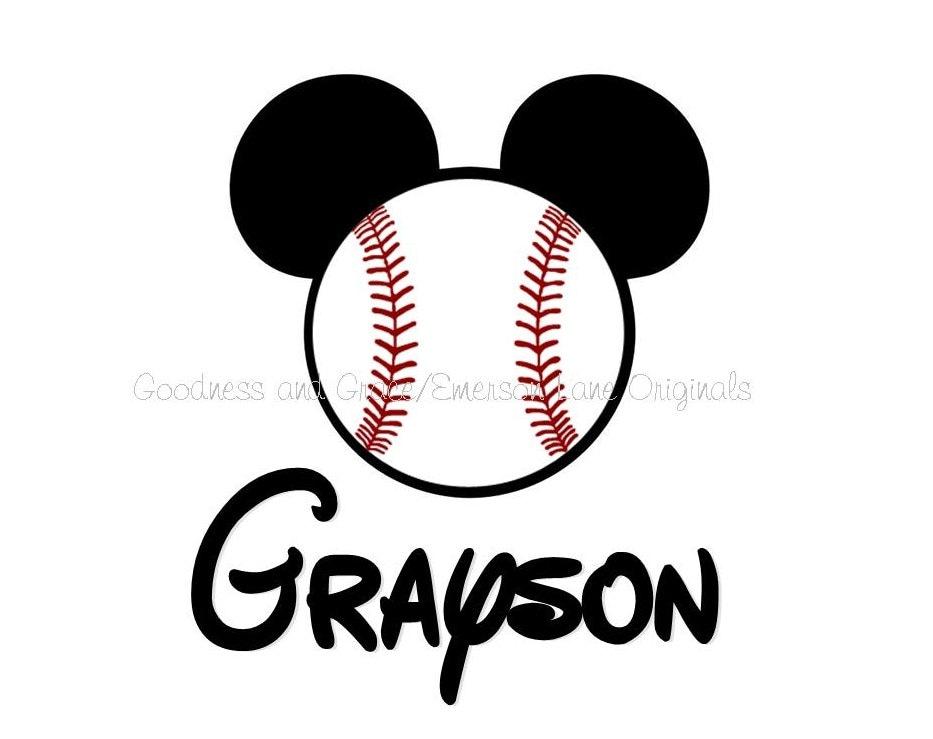 mickey mouse baseball shirt family vacation monogram