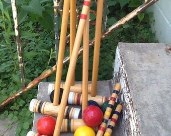 Vintage croquet game set cheapest croquet set around cheap cheap