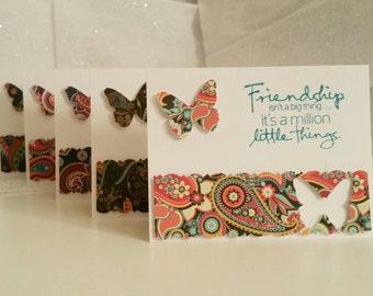 Friendship Paisley Pop Cards (Blank Inside), Set of 5