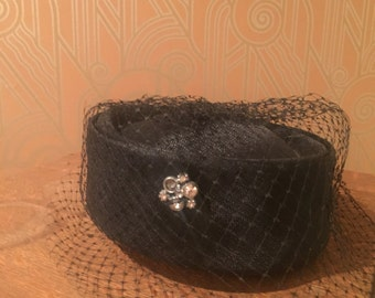 1960s Vintage Pillbox Hat