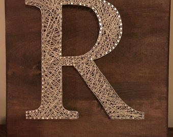 string art letters items similar to monogrammed string amp nail letter s 13736 | il 340x270.918269599 t3ku