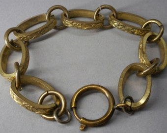 Antique Victorian Jewelry Brass Bracelet