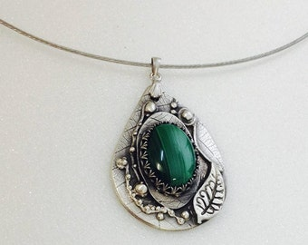 Unique hand made Fine Silver pendant