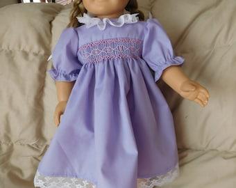 Hand Smocked American Girl Dress