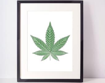 SALE - Leaf print, printable art, Palm leaf print, Nature, Nature print, Botanical print, Palm leaf, Print art, palm print, Tropical leaf