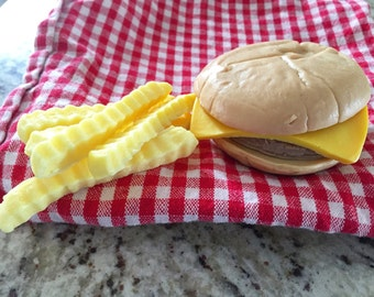 Cheeseburger & Fries Soap - Food Soap - Fake Food - Novelty Soap - Gifts For Him