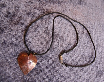 My Mangled Heart Copper Pendant (w/necklace)