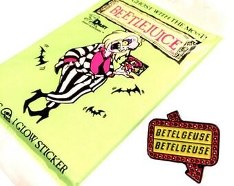 COMBO! Beetlejuice Pin & Trading Cards