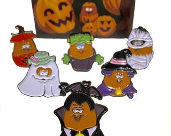 6-Pack of Halloween McNugget Enamel Pins