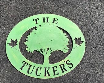 Oak tree door or wall sign