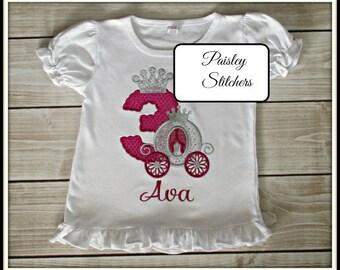Personalized Princess Birthday Shirt