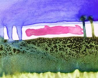 Spring Storm watercolor print
