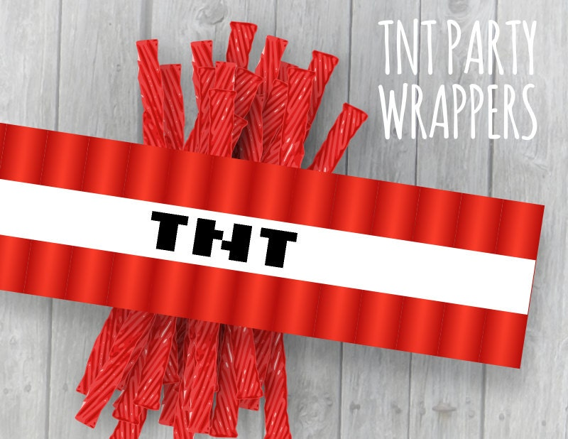 80 Off Sale Tnt Wrappers Video Game Mine Theme Party