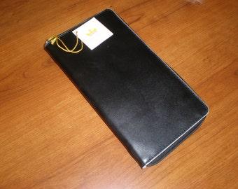 New Vintage Baekgaard Black Leather Travel Organizer Wallet/Passport Holder