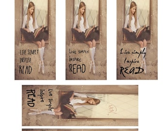 Live Simply - Inspire - READ , laminated bookmarks