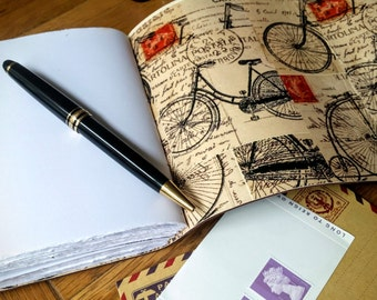 Leather journal cyclist notebook journal, cycling notebook journal, bike journal, biking journal, bike notebook, personalised cycling gift