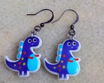 Cute dinosaur earrings