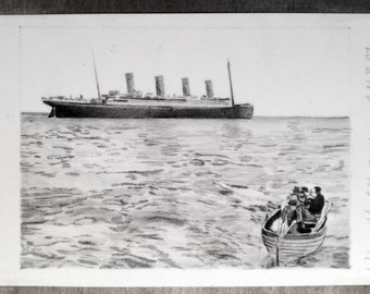 Titanic last known of the MS Titanic drawing photography (not a print)