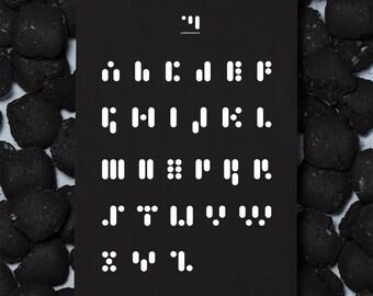 Dot comma dash - print abc.black