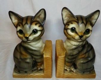 Cat Kitten Kitty Bookends