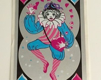 Vintage Large Mylar Dancing Pierrot Clown