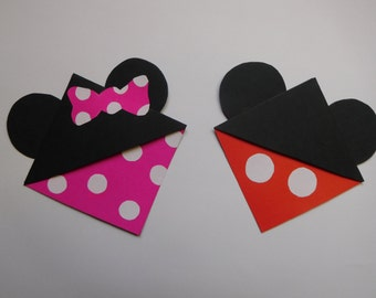 Mickey & Minnie Mouse Corner Bookmarks