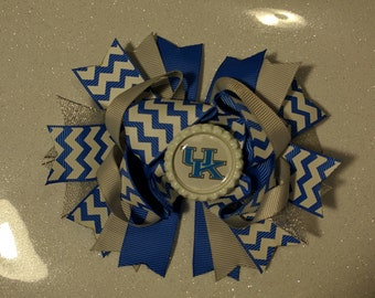 Kentucky gameday bow, UK wildcat bow, Kentucky girls bow,wildcat bow