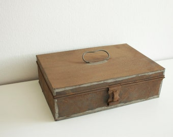 Old, vintage, industrial metal box from the 40