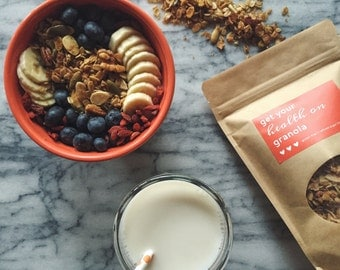 Get Your Health On Granola // Vegan + Gluten Free + Refined Sugar Free