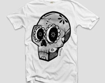 T-shirt Tees Mexican Skull CALAVERA Vintage man maglia teschio messicano uomo