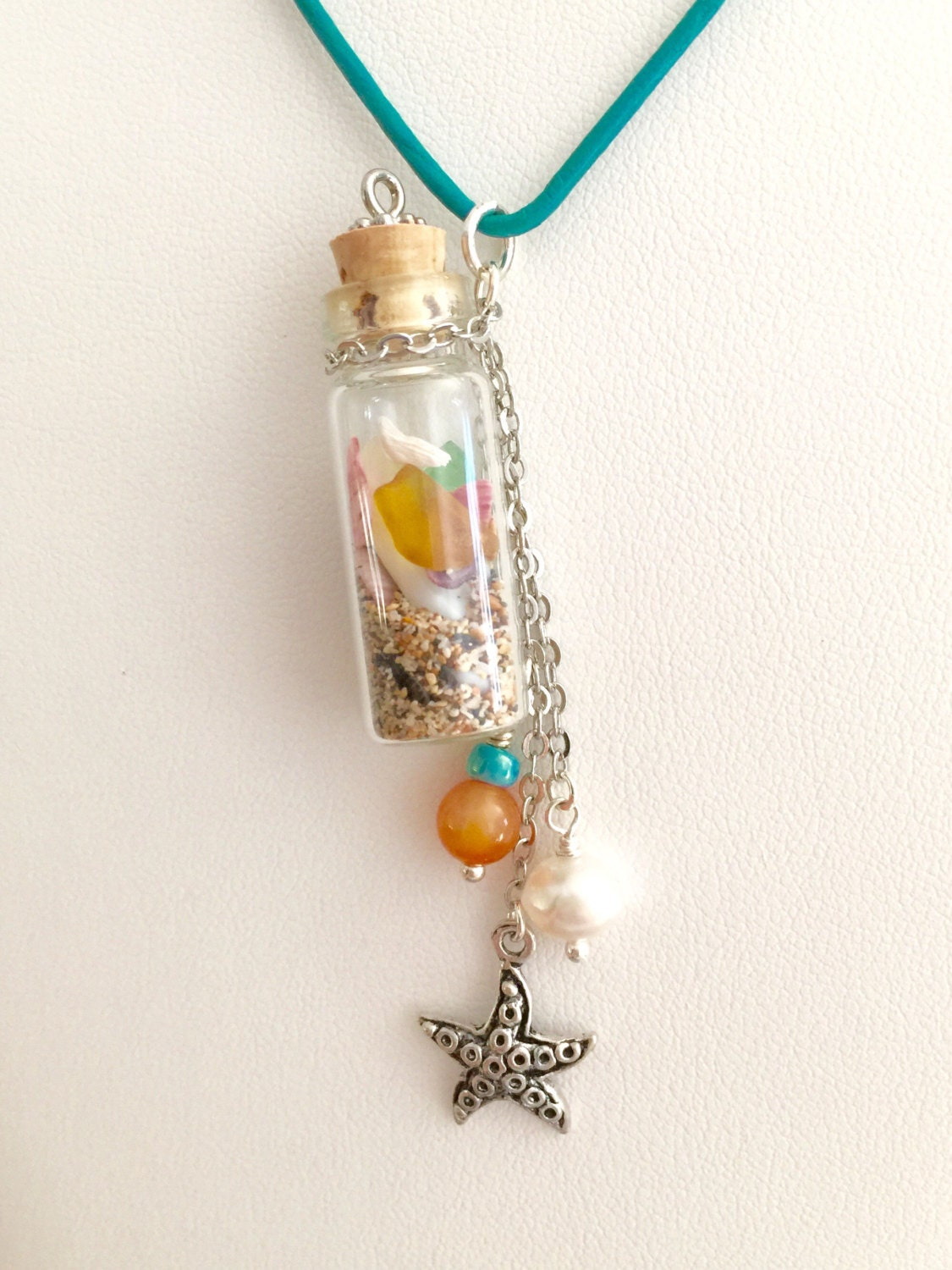 in a bottle necklace bottle necklace sand