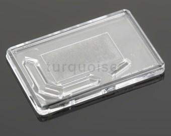 Premium Quality Clear Acrylic Blank Fridge Magnets 70 x 45 mm | Large Photo